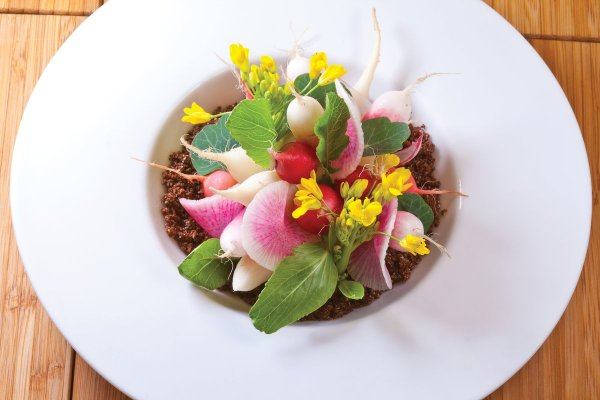 Spring Radish Garden by Gerard Bertholon. Photo by Battman. Master Chefs of France