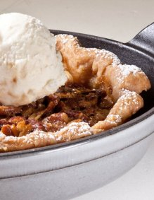 Pecan Pie from The Pastry Chef's Little Black Book by Michael Zebrowski & Michael Mignano. Photo by Battman.