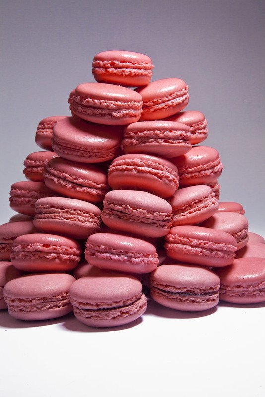 Macarons from The Pastry Chef's Little Black Book by Michael Zebrowski & Michael Mignano. Photo by Battman.