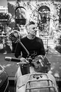 John Delucie and his Vespa. Photo by Avery Whyte.