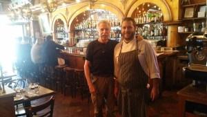 Chef Carlo Bigi of Bowery Hotel with Battman.