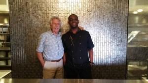 Chef Cleophus Hethington Jr (Chef Ophus) with Battman