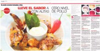2 page spread article about chicken wings.
