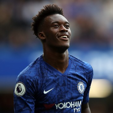 LONDON, ENGLAND - SEPTEMBER 28: Callum Hudson-Odoi of Chelsea during the Premier League match between Chelsea FC and Brighton & Hove Albion at Stamford Bridge on September 28, 2019 in London, United Kingdom. (Photo by Chris Lee - Chelsea FC/Chelsea FC via Getty Images)