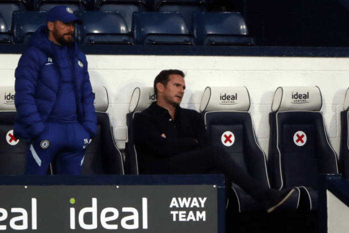 Lampard is frustrated at his team's effort against WBA.
