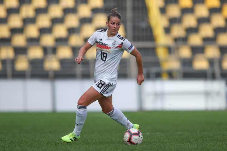 Melanie Leupolz in action for Germany.  Credit: Getty Images