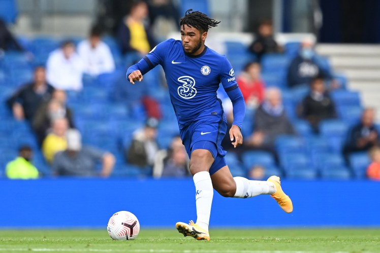 Reece James running down the wing