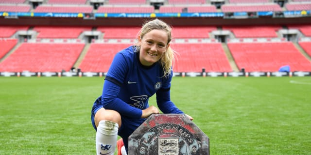 Cuthbert with the Community Shield in 2020