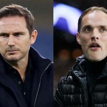 Frank Lampard and the man who replaced him as Chelsea boss, Thomas Tuchel
