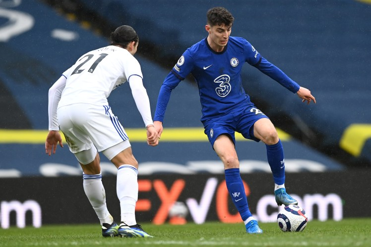 Kai Havertz wasn't able to score as the the defence came out on top in Chelsea Vs Leeds United