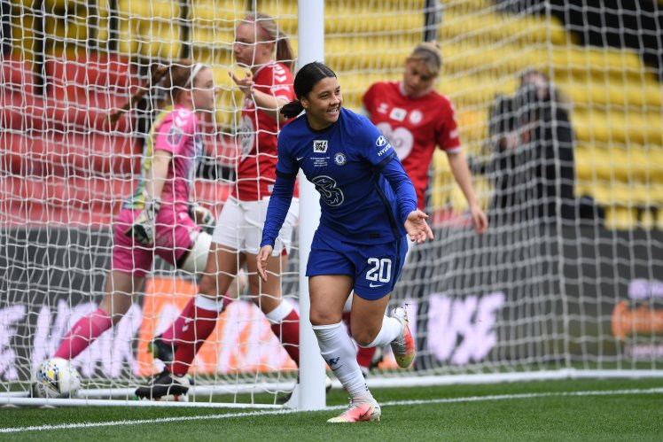 Sam Kerr wanting to rise to the big occasiona against Barcelona Femeni in the Champions League