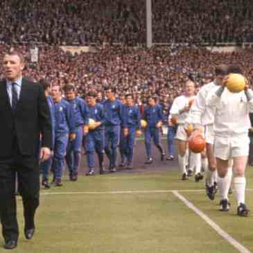 Tommy Docherty (left) leads his Chelsea team out to face Bill Nicholson's Tottenham in the 1967 FA Cup final. Spurs won 2-1 but Docherty was victorious in the final 10 years later. Photograph: PA Archive/PA