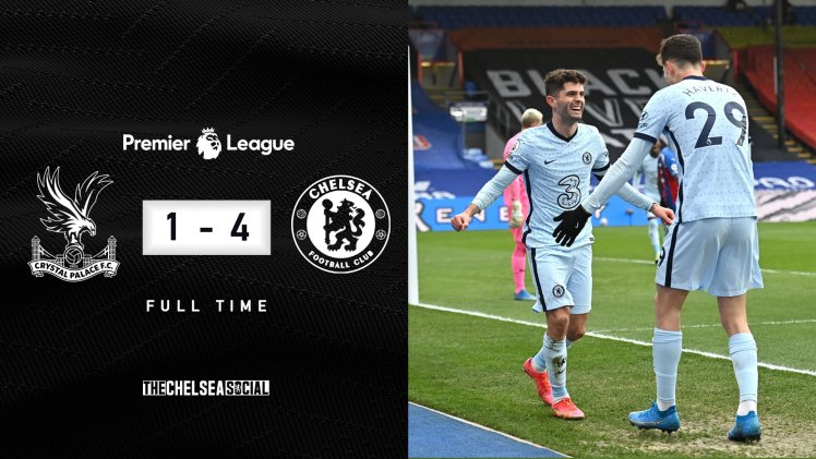 Crystal Palace 1-4 Chelsea Final Score