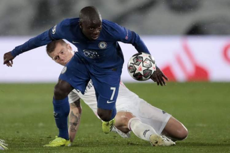NGolo Kante was magnificent in Real Madrid 1-1 Chelsea.