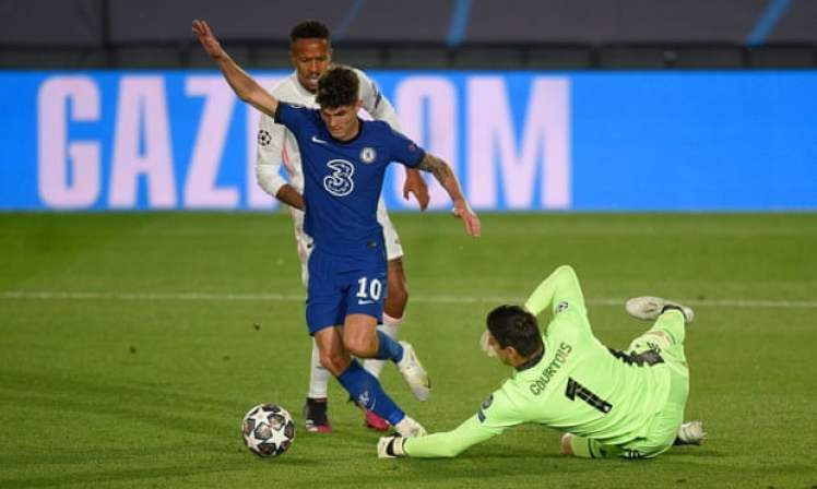 Christian Pulisic makes it Real Madrid 0-1 Chelsea.