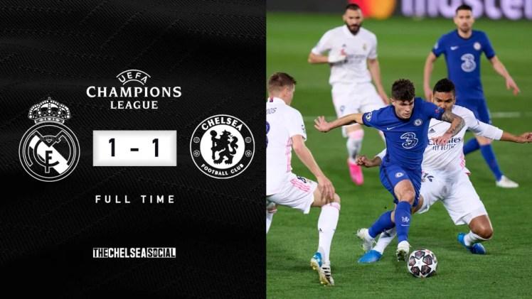 Real Madrid 1-1 Chelsea Final Score Edit