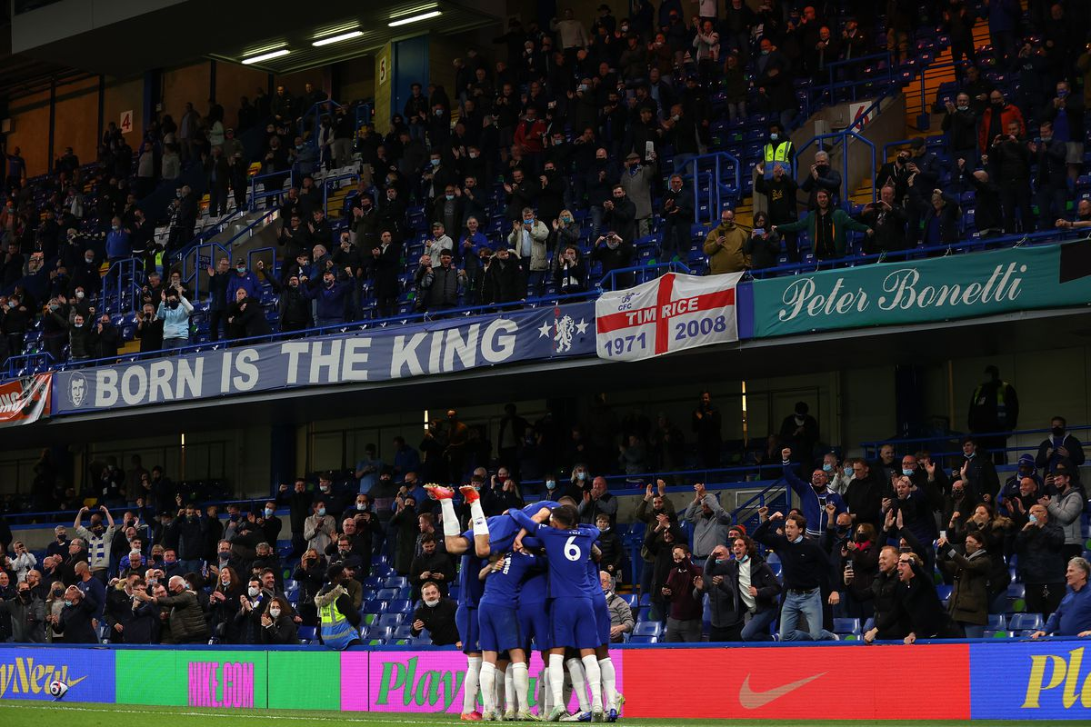 It was glorious to have fans back inside Stamford Bridge as Chelsea beat Leicester City but it will be Aston Villa with the advantage on Sunday (Image: Catherine Ivill/Getty Images).
