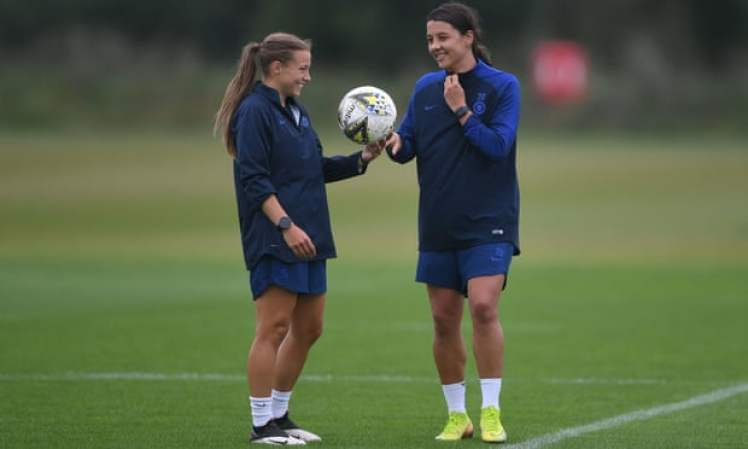 Sam Kerr and Fran Kirby - the key duo for Chelsea ahead of Chelsea Women vs Barcelona Femeni.