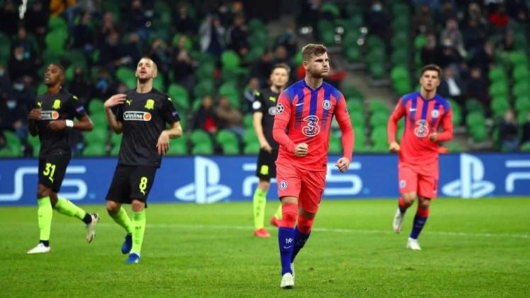 Blown Away: Timo Werner was part of an impressive away performance against Krasnodar. Credit   Getty Images via Eurosport