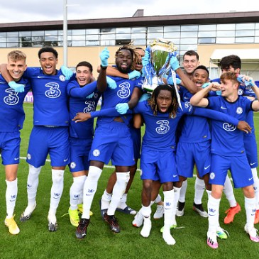 Chelsea's current crop of graduates from the Cobham academy. (Photo by Clive Howes – Chelsea FC/Chelsea FC via Getty Images)