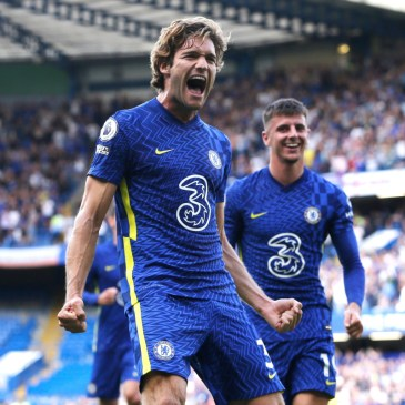 GETTY Alonso celebrated his goal in style on the opening day of the season