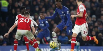 Tammy Abraham against Arsenal