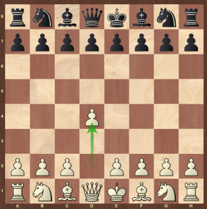 rules of chess - the first move