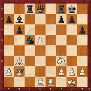 Passed Pawns in Middlegames: Caglar-Dragnev diagram 1