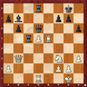 Passed Pawns in Middlegames: Caglar-Dragnev diagram 2