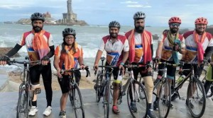 Indian para cyclists complete cycle ride from Kashmir to Kanyakumari