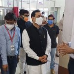 Dr. Mishra visited the Covid Care Middle