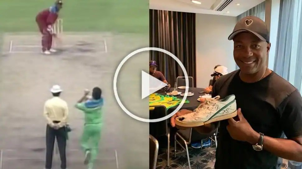 Wasim Akram gets memorable gift for Brian Lara, asks if Windies legend is ready for a 'grudge match'