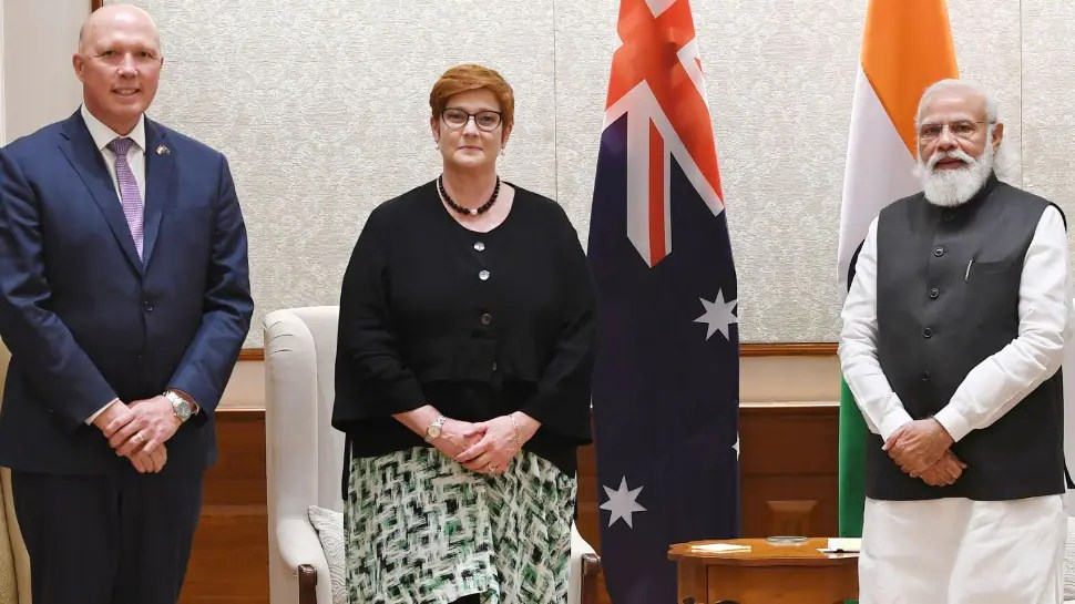 Australian Foreign Affairs Minister and Minister for Defence call on PM Narendra Modi