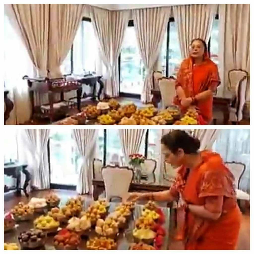 Sadhna Singh prepared Chappan Bhog for Gannu Bhaiya