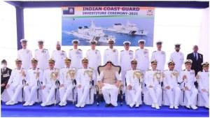 Defence Minister Rajnath Singh hails Coast Guard for maintaining maritime peace, saving lives
