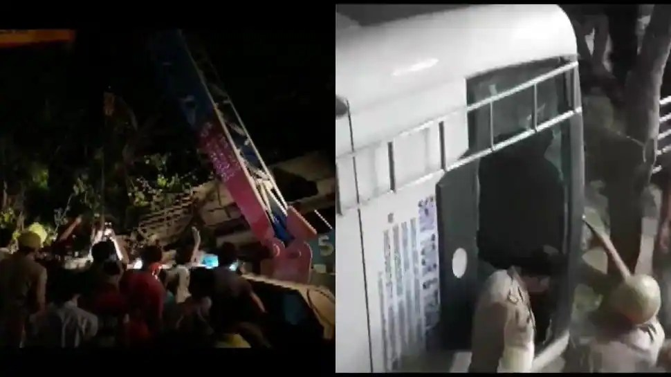 Uttar Pradesh: Many feared injured after bus falls off flyover in Ghaziabad