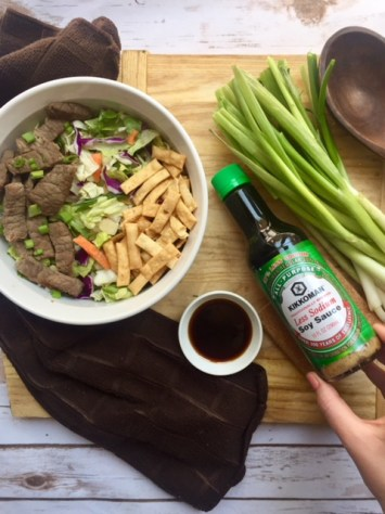 Asian Salad with Steak Marinade recipe