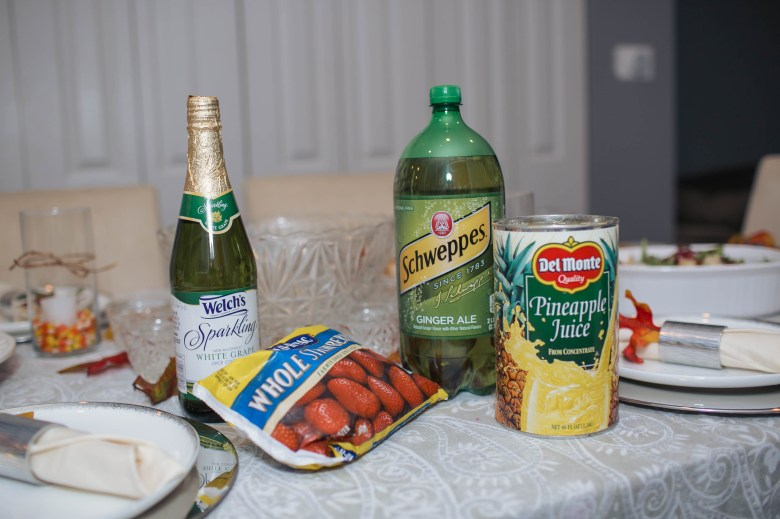 Punch ingredients for the easiest recipe for Friendsgiving