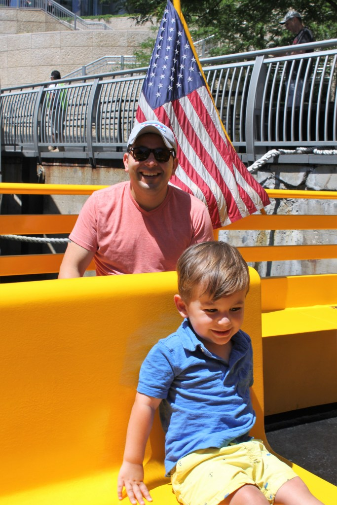 Water Taxi on the Chicago River is perfect for families in the summer
