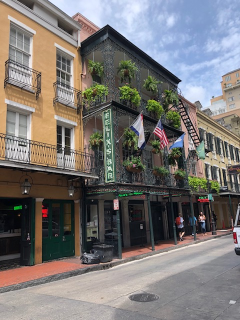 New Orleans buildings have beautiful architecture including the famous balconies.