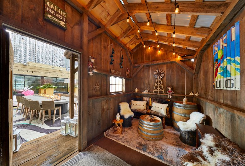 Curling and Cabins at The Gwen Hotel in Chicago. Great late fall/early winter activity on my bucket list.