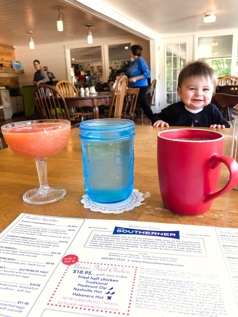 The Southerner is Saugatuck is one of the most kid friendly places we went. Plus the food is absolutely delicious!
