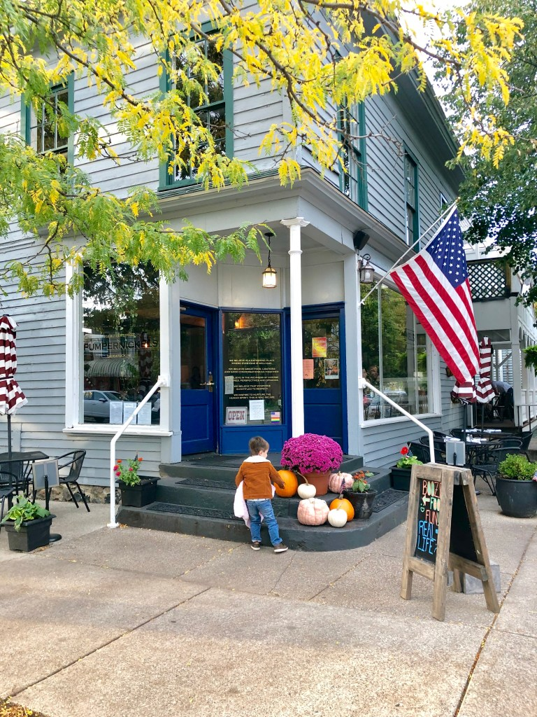 Downtown Saugatuck, Michigan is a cute town with lots of shopping, restaurants and things to do.