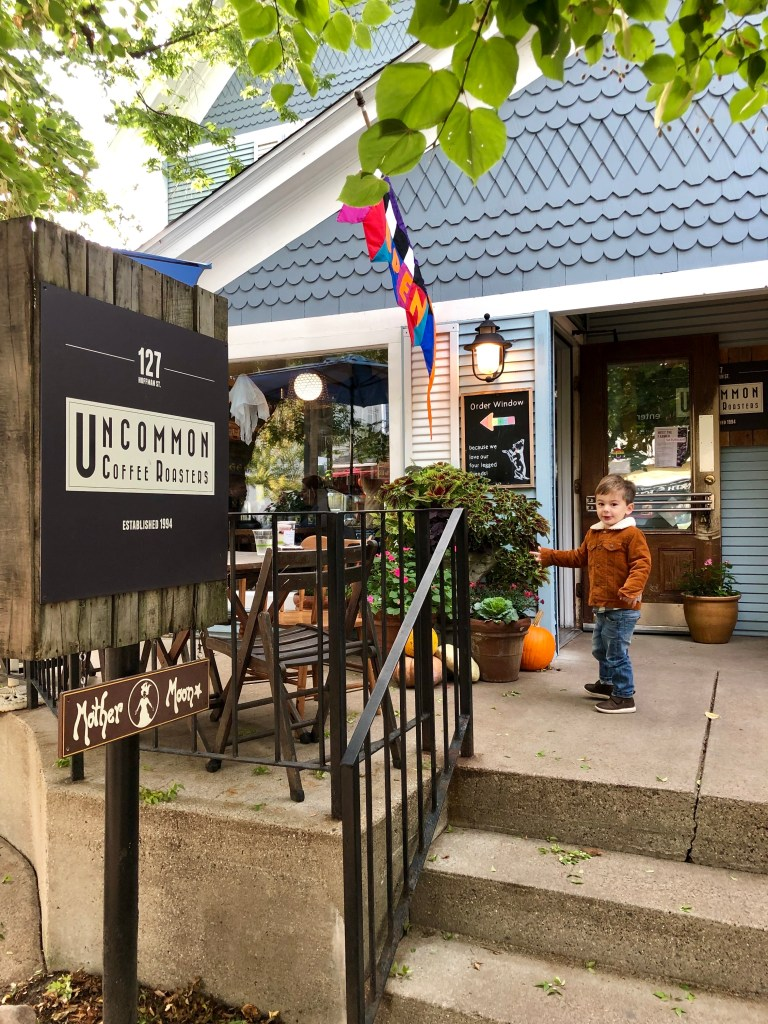 Uncommon Roasters is a cute little shop in downtown Saugatuck. Great coffee and garden area in the back.
