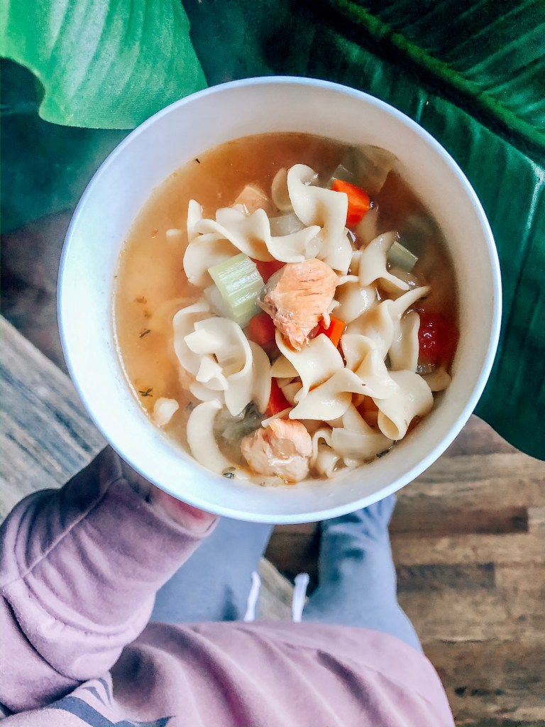This chicken noodle soup is made from many ingredients you might have in your fridge right now!