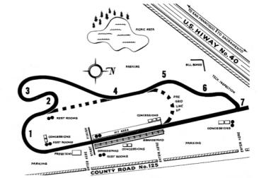 1960 Vaca Valley Track Map