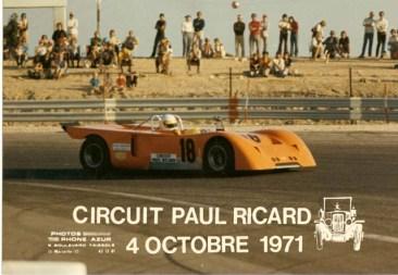Chevron B10 at the 1971 Paul Ricard