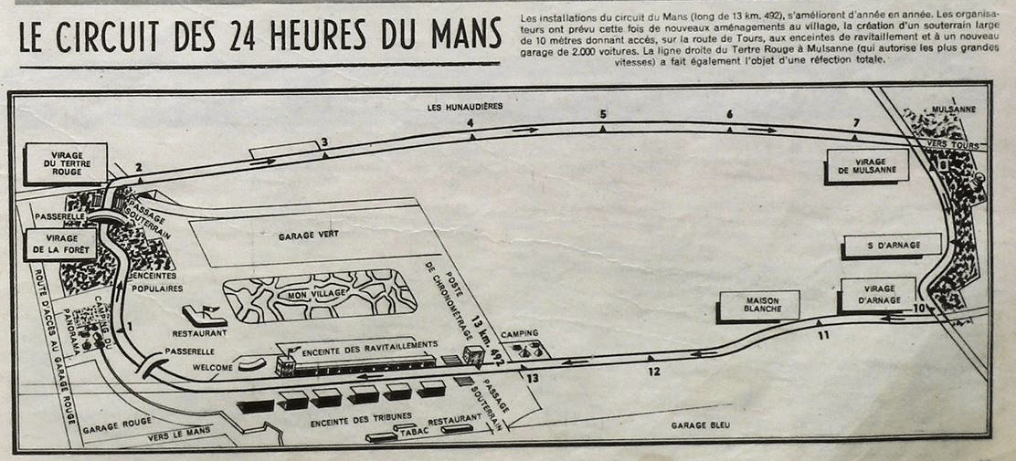 Track Map Of The Past Lemans 1955 The Chicane