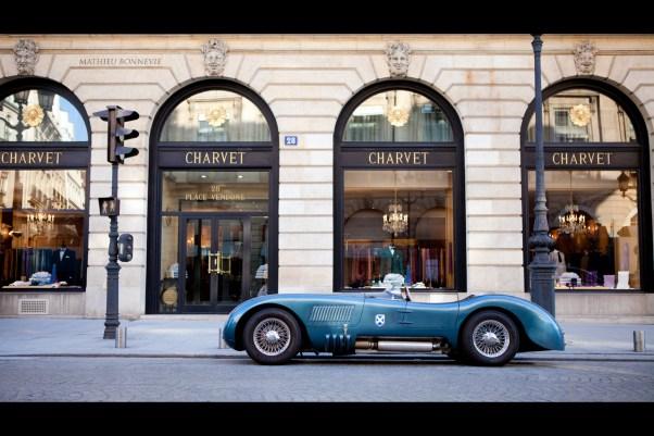 """""""CHARVET"""" - Jaguar Type C, rue de la Paix, Paris."""