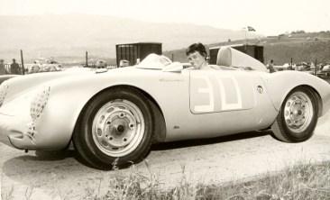 Suzy Dietrich in her Porsche 550